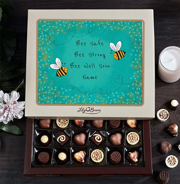 Bee Well Soon Personalised Chocolate - Box of 30