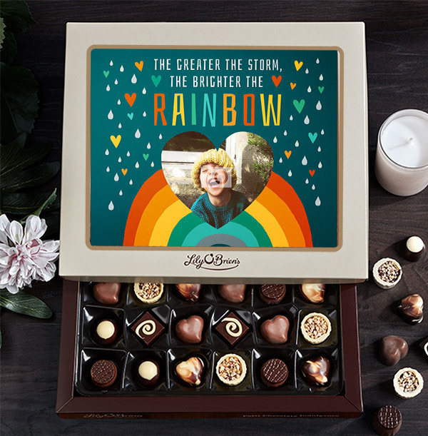 Greater The Storm, Brighter the Rainbow Photo Chocolates - Box of 30