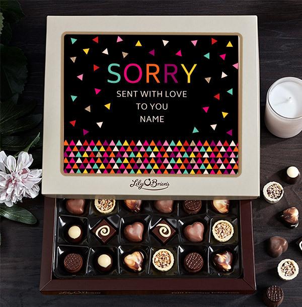 Sorry Personalised Chocolates - Box of 30