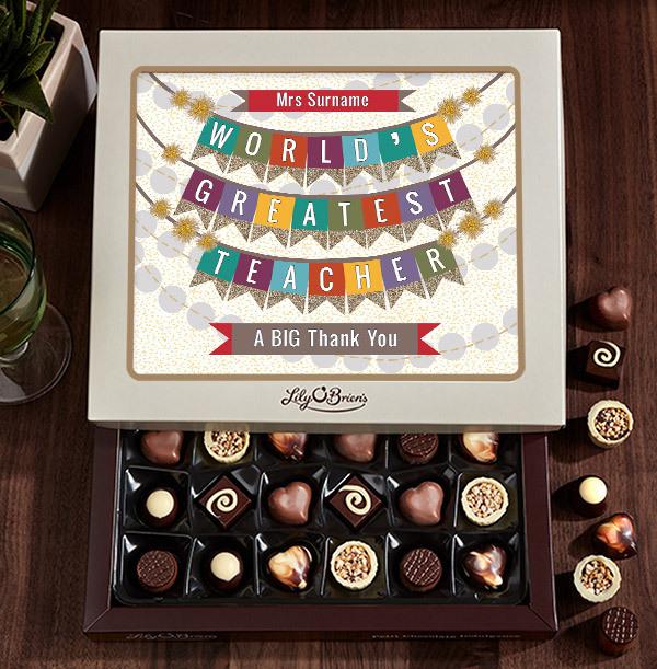 World's Greatest Teacher Chocolates - Box of 30