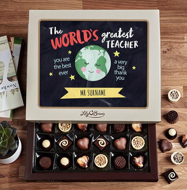 A big Thank You Teacher Chocolates - Box of 30