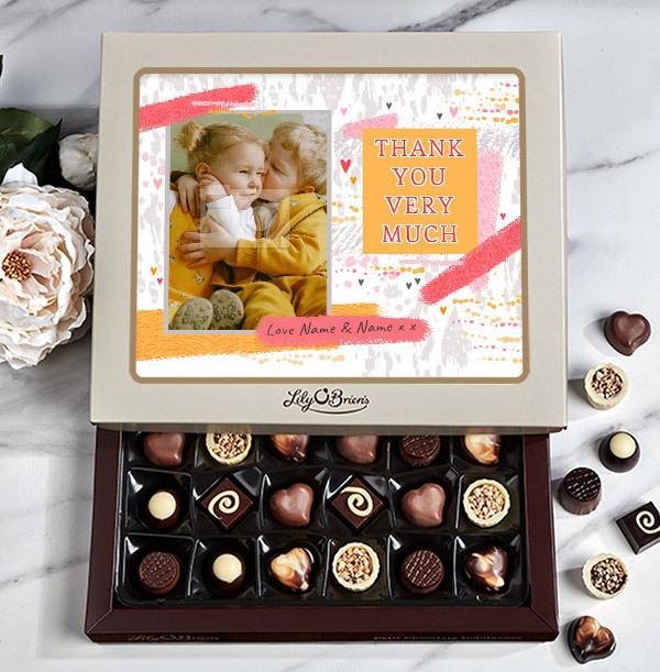 Thank You Photo Chocolates - 30 Box