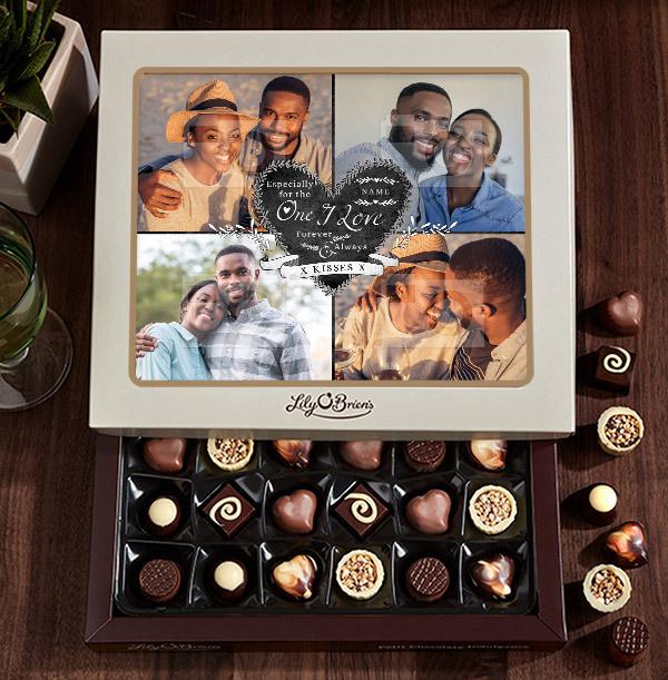 The One I Love Photo Chocolates - 30 Box
