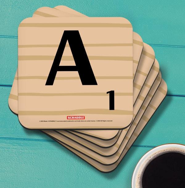 Scrabble Personalised Initial Coaster