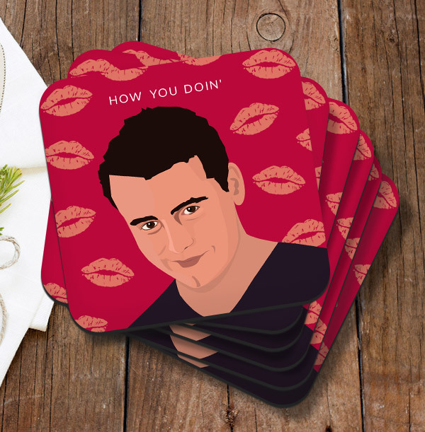 How You Doin' Personalised Coaster