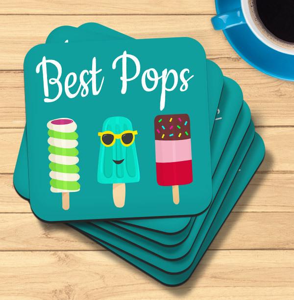 Best Pops Personalised Coaster