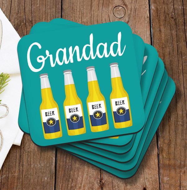 Grandad Personalised Coaster