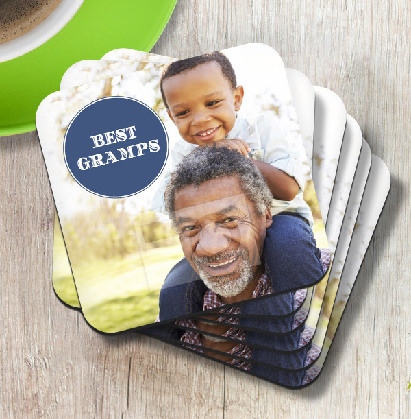Best Gramps Photo Upload Coaster