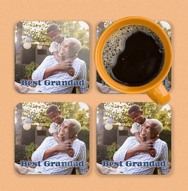 Best Grandad Photo Upload Coaster