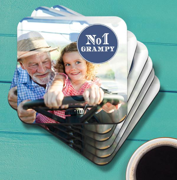 No.1 Grampy Photo Upload Coaster