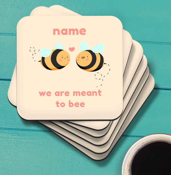 Meant to Bee Personalised Coaster
