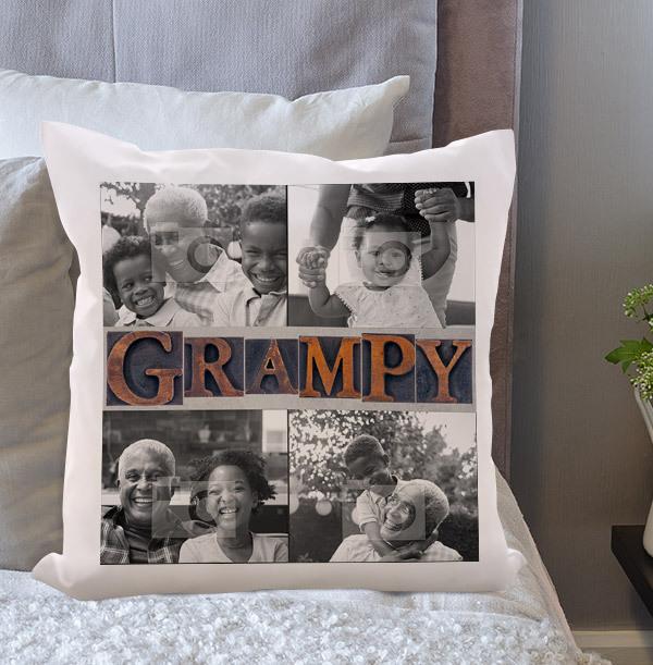 Grampy Multi Photo Upload Cushion