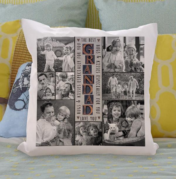 The Best Grandad Multi Photo Upload Cushion
