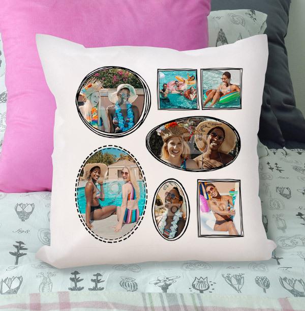 Birthday Multi Photo Cushion