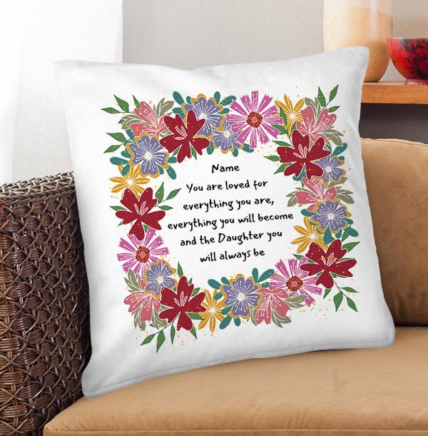Daughter Birthday Personalised Cushion