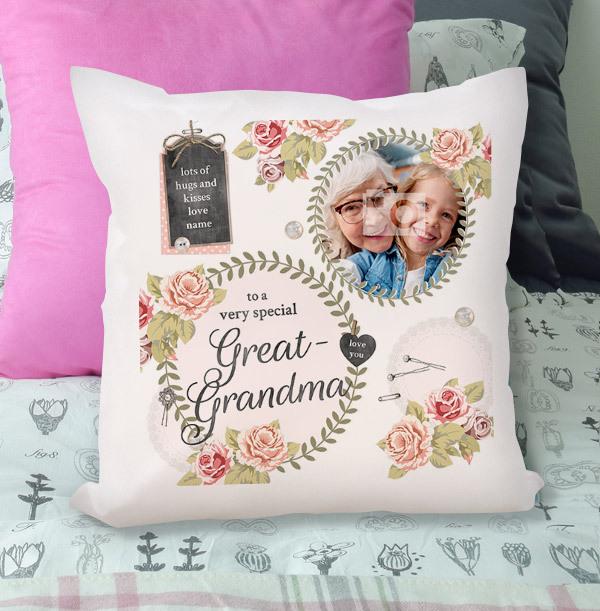 Great Grandma Photo Cushion