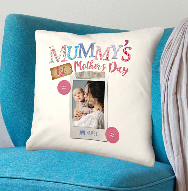 Mummy's 1st Mother's Day Photo Personalised Cushion