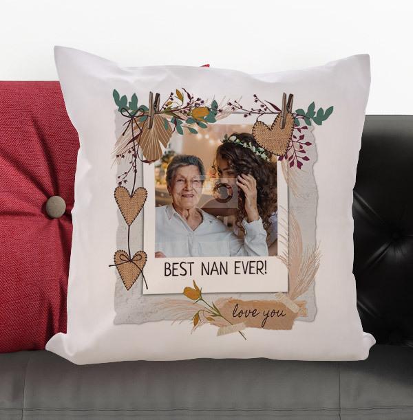 Best Nan Photo Personalised Cushion