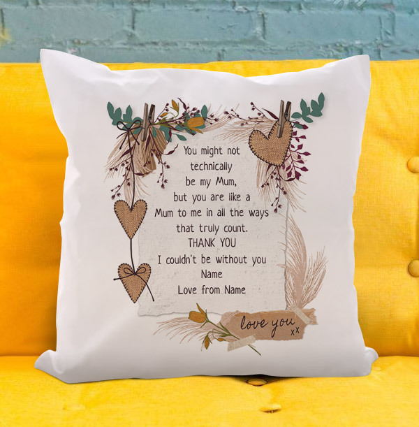 Like a Mum to me Personalised Cushion