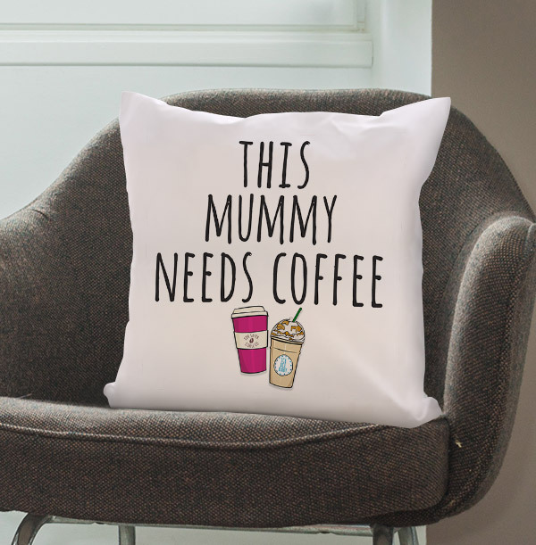 Mummy needs Coffee Personalised Cushion