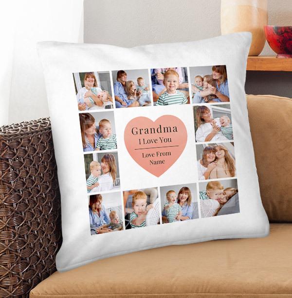 Grandma Multi Photo Personalised Cushion