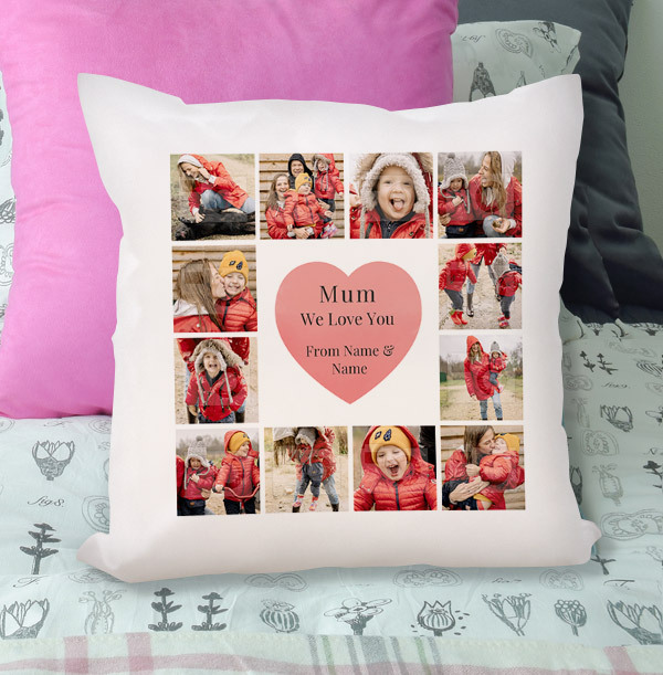 Mum Multi Photo Personalised Cushion