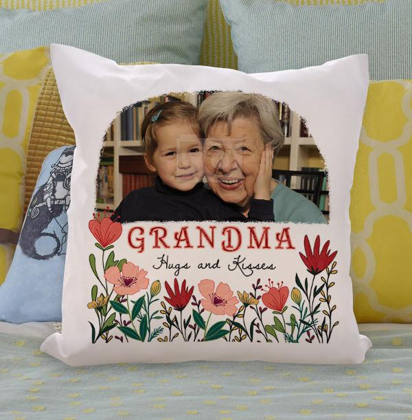 Grandma Floral Photo Cushion