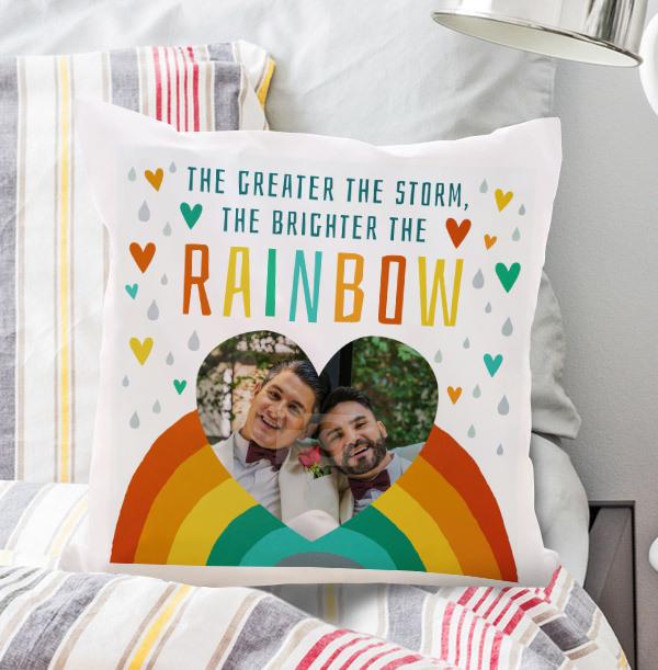 Bright Rainbow Photo Cushion