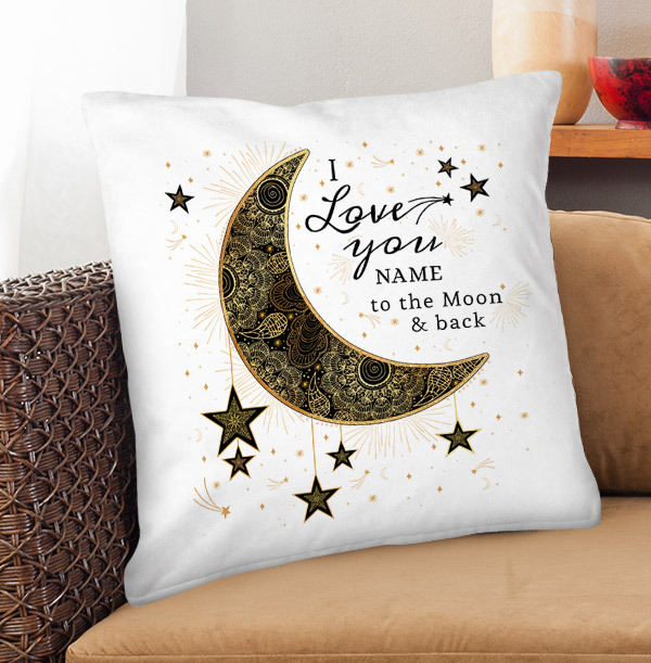 Love You to the Moon and Back Personalised Cushion