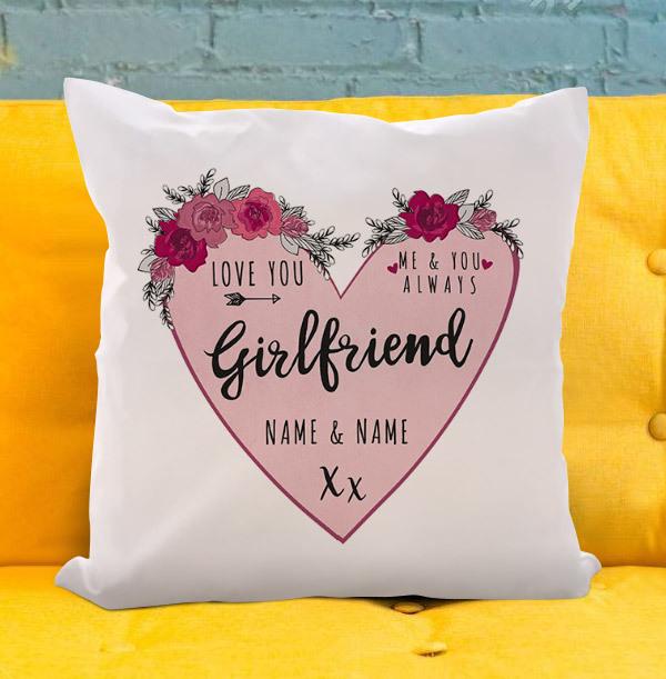 Girlfriend Personalised Heart Cushion
