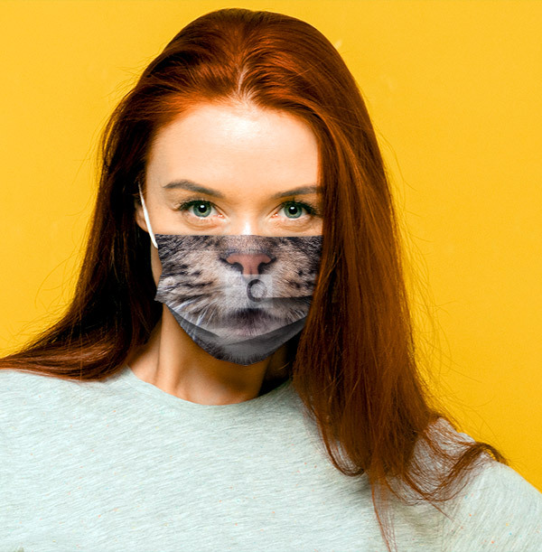 Your Cat's Face Full Photo Face Mask