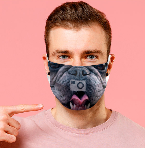 Your Dog's Face Full Photo Face Mask