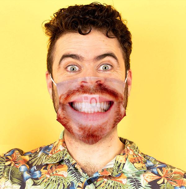 Man's Face Full Photo Upload Face Mask
