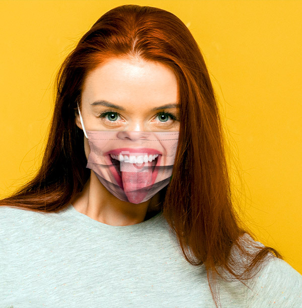 Woman's Face Full Photo Upload Face Mask