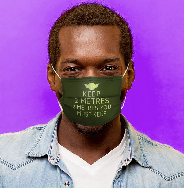 2 Metres You Must Keep Personalised Face Mask