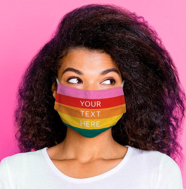 Rainbow Personalised Face Mask