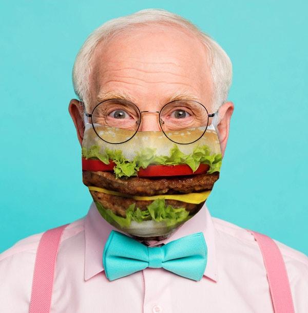 Burger Face Mask