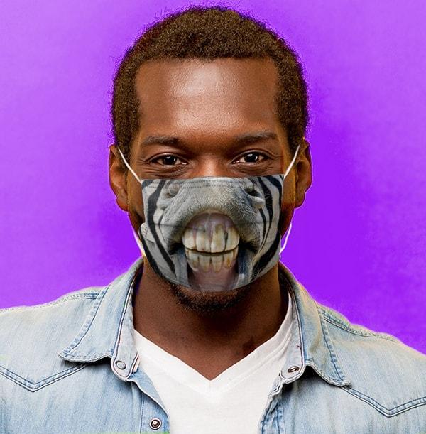Zebra Mouth Face Mask