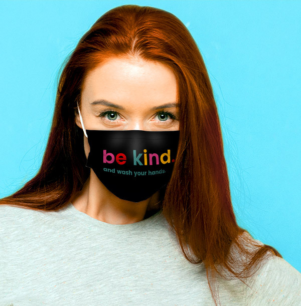 Be Kind and Wash Your Hands Personalised Face Mask