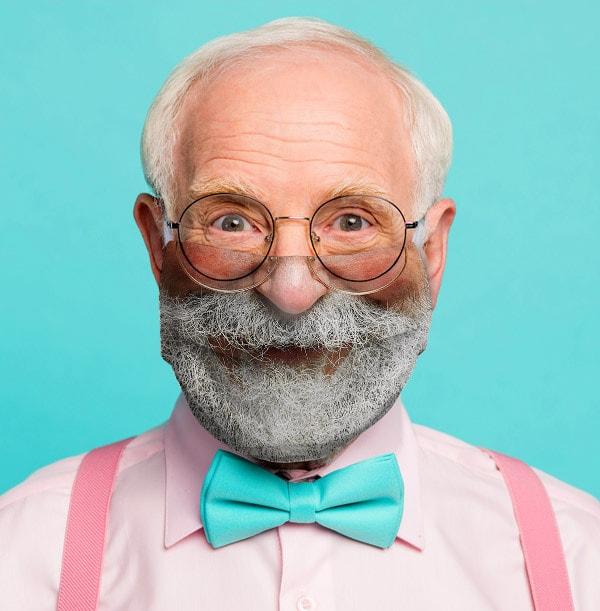 Bearded Santa Face Mask