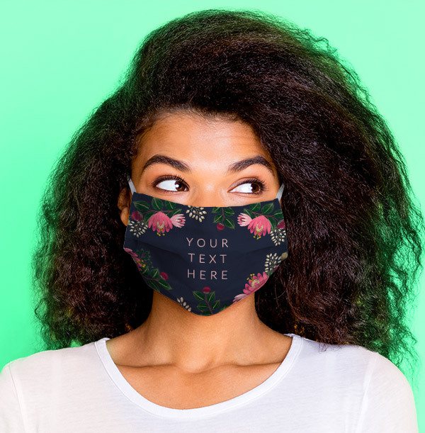 Floral Personalised Face Mask