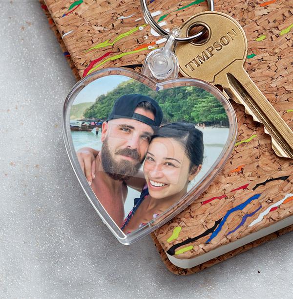 Full Photo Romantic Heart Keyring