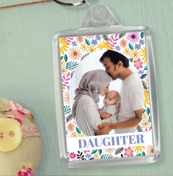 Daughter Photo Keyring
