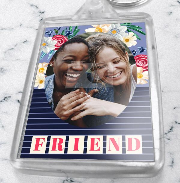 Friend Photo Keyring