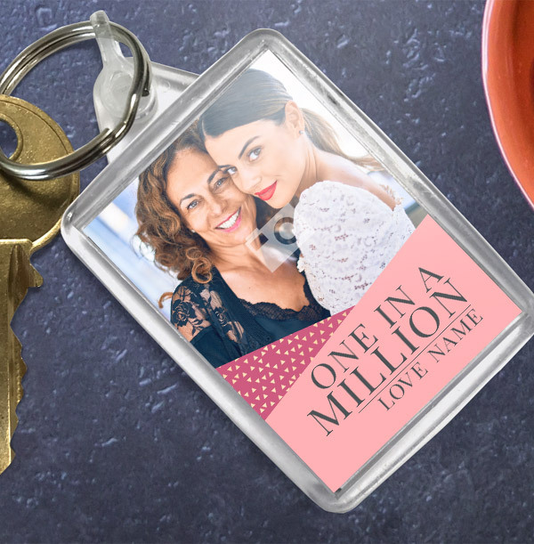 One in a Million Photo Keyring