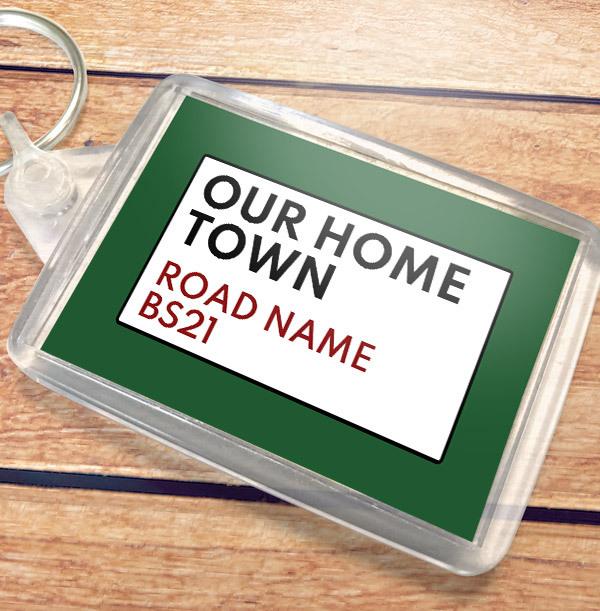 Street Sign New Home Landscape Keyring
