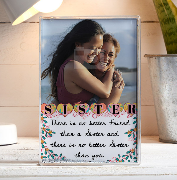 There Is No Better Friend Than A Sister Photo Block - Portrait
