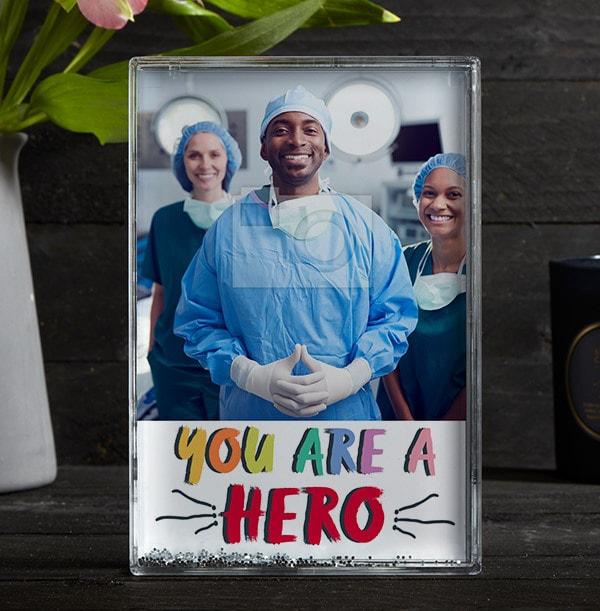 Thank You Hero Acrylic Photo Block