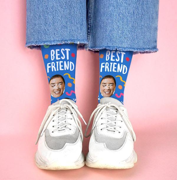 Best Friend Photo Upload Socks