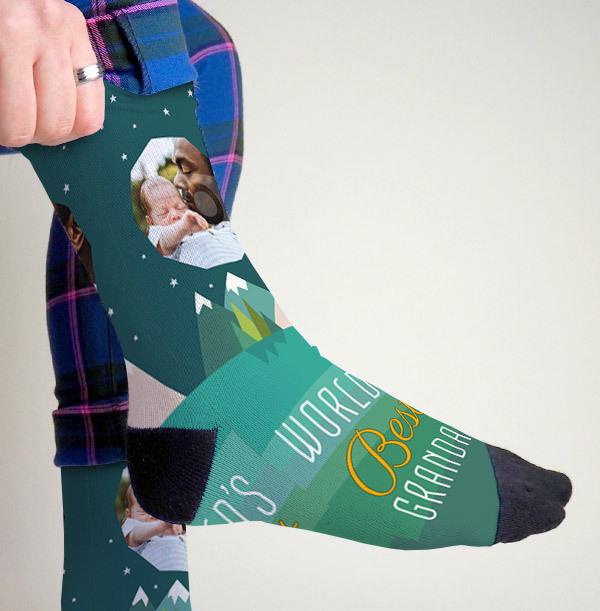 Worlds Best Grandad Personalised Socks